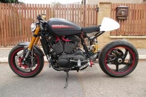 Sedlo verze 2 Aermacchi 250-402, Linto 500, GFK na cafe racer - Harley Davidson XR1200