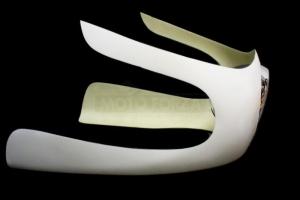 Headlamp - british style 7inch - preview in UNI half fairing 350-1000cc