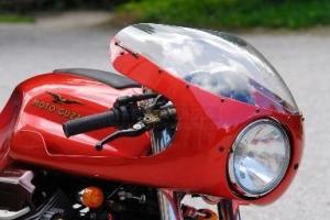 Polokapotáž - Laverda, Motoguzzi atd SET - předchystané plexi, světlomet s držáky na Motoguzzi v50