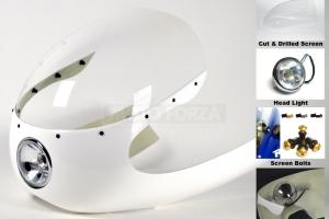 Chrom Světlomet 4 1/2 inch - Cafe Racer
