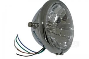 Chrom Světlomet 5 3/4 inch - Cafe Racer - 146mm