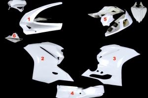Complete set 5-pieces racing OP - Ducati 1299, 959 Panigale 2015-2018 - GRP