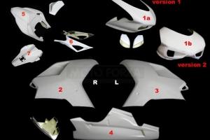 Ducati 848-1098-1198  Complete set 7-pieces racing - OP, GRP