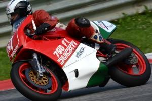 Ducati F1 750cc 1985-1988  Motoforza parts on bike