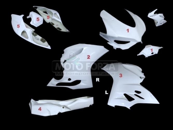 Ducati 899 1199 Kompletní sada 5-dílná racing Termignoni - OP, GFK
