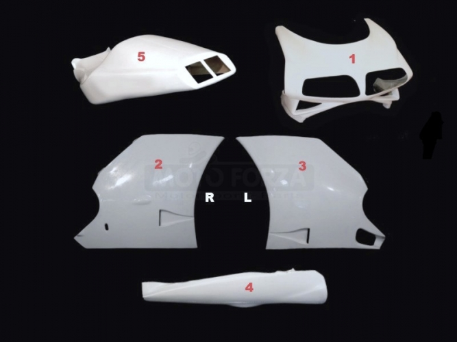 Ducati 996R 998 - Kompletní sada 5-dílná Strada - Cestovní GFK