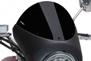 UNI Upper Fairing RETRO SEMI HALF FAIRING - SET - Honda CB 1000R 2018-2019  - black  screen