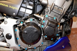 Honda CB 900F Hornet 2002-2007 Kryty motoru CARBON-KEVLAR