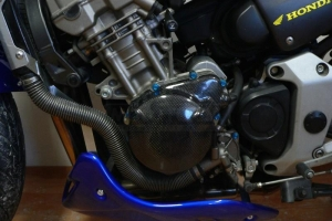 Honda CB 900F Hornet 2002-2007 / Kryt alternátoru Carbon-Kevlar na moto