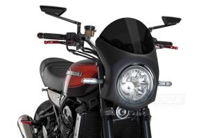 UNI Upper Fairing RETRO SEMI HALF FAIRING - SET - Kawasaki Z900RS 2018-2020  - dark smoke