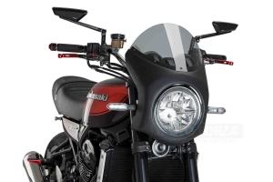 UNI Upper Fairing RETRO SEMI HALF FAIRING - SET - Kawasaki Z900RS 2018-2020  - light smoke