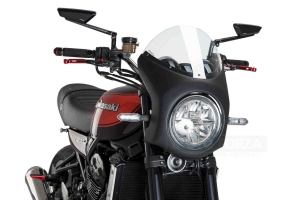 UNI Upper Fairing RETRO SEMI HALF FAIRING - SET - Kawasaki Z900RS 2018-2020 clear screen