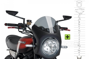 UNI Upper Fairing RETRO SEMI HALF FAIRING - SET - Kawasaki Z900RS 2018-2020