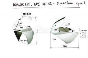 Vrchní díl racing - velký SUPERTWIN