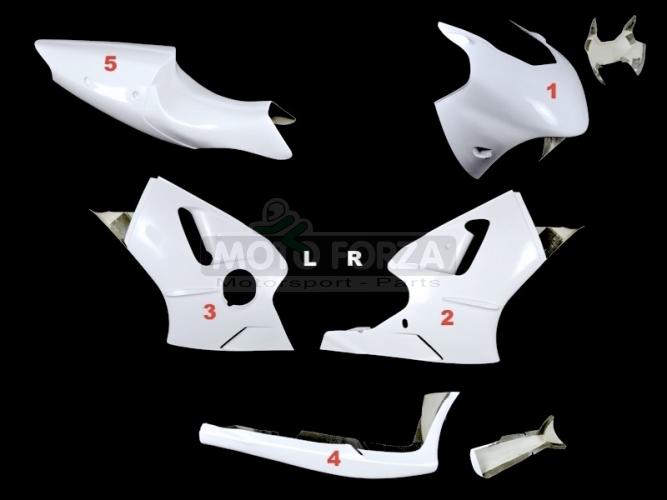 Kompletní sada 5-dílná Racing Kawasaki ZX12R 2000-2001