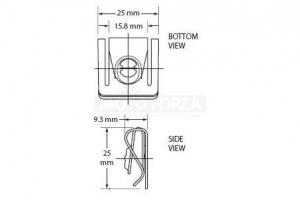 Rychloupínací šrouby D-ring - zasouvací protikus
