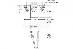 Rychloupínací šrouby D-ring - nýtovací