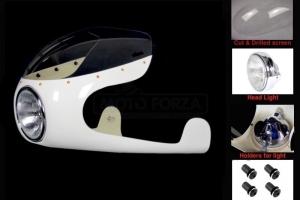 Polokapotáž - Laverda, Motoguzzi atd SET - předchystané plexi, světlomet s držáky.