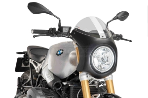 UNI Upper Fairing RETRO SEMI HALF FAIRING - SET- BMW R NINE T 2014-2020 -  clear screen