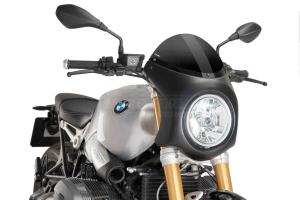 UNI Upper Fairing RETRO SEMI HALF FAIRING - SET- BMW R NINE T 2014-2020 -  dark smoke screen