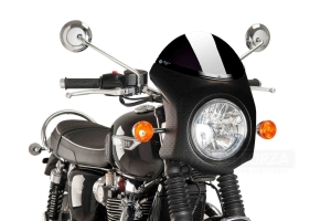 UNI Upper Fairing RETRO SEMI HALF FAIRING - SET Triumph Bonneville T120 2016 - dark screen