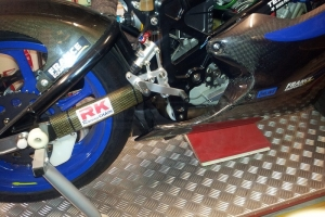 Oil sump carbon on bike