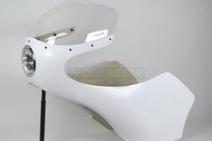 Kapotáž GFK - SET, Předchystané plexi (navrtané, ořízlé) , šrouby na plexi, Universal 250-500 - instalovaé světlo 5 3/4 palce