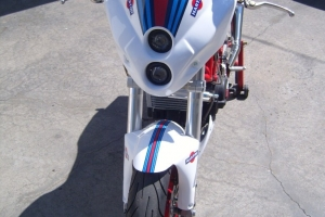 Uni street fighter mask version 2 on bike - preview Ducati