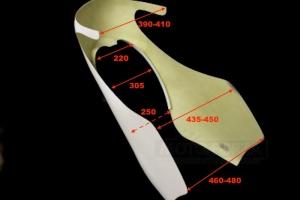 Honda CB 250-500 Kapotáž GFK - rozměry