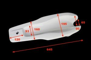 Nádrž Honda 50cc 125cc / UNI, GFK - uni zátka-  rozměry
