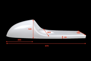 UNI CAFE RACER seat v.10 -  GRP - dimensions