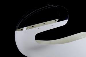 Ukázka - plexisklo čiré - vyřezané - předchystané