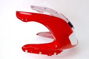 UNI screen version 5 - Double bubble preview on upper part on Ducati 900SS 98-