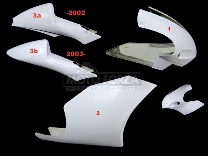 Yamaha TZ 250 2002-2009  - Complete set 3-pieces Racing, GRP