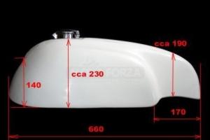 Norton Manx - Tank with Monza CAP - Abmessung