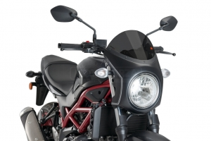 UNI Upper Fairing RETRO SEMI HALF FAIRING - SET - Suzuki SV 650 2016-2020 - dark smoke screen