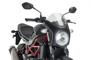 UNI Upper Fairing RETRO SEMI HALF FAIRING - SET - Suzuki SV 650 2016-2020 - light smoke screen