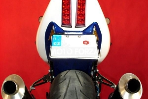 Seat open  - stock seat street version - with holders for tail lamp