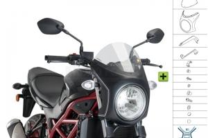 UNI Upper Fairing RETRO SEMI HALF FAIRING - SET - Suzuki SV 650 2016-2020