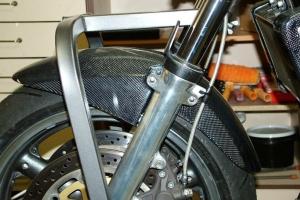 Front fender on bike