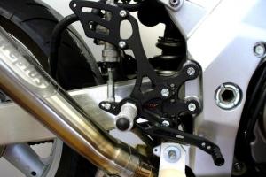 Rear set on bike