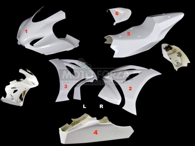 Kompletní sada 6-dílná Racing verze 2 - Yoshimura, M4, Arrow výfuk