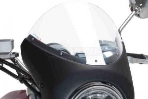 UNI Upper Fairing RETRO SEMI HALF FAIRING - SET - Triumph Street Twin 2016-2020 - clear screen