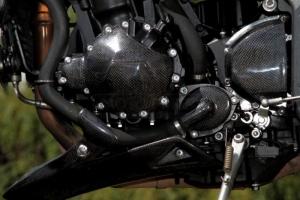 Kryt vodní pumpy CARBON- Kevlar Triumph 1050 05-10