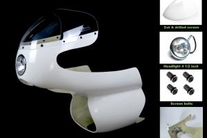 SET - Fairing Aermacchi 250-350-402cc with headlight 4 1/2 inch - GRP