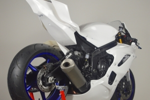 Yamaha YZF R6 2017- Race Seat closed SSP Design, GRP  - preview on bike with tank cover
