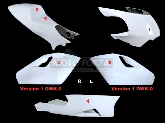 Yamaha YZR 500 1997-2000 Kompletní sada 5-dílná Racing OWK-0, GFK